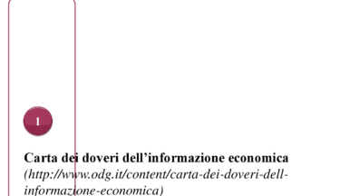 CONSOB: CARTA DEI DOVERI DELL'INFORMAZIONE ECONOMICA E FINANZIARIA