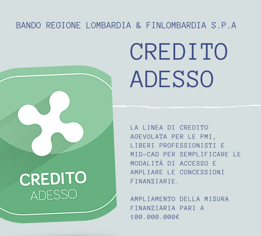 'Credito Adesso', i settori interessati