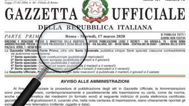 Il testo del Decreto Rilancio in Gazzetta Ufficiale