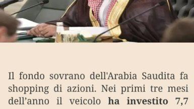 Fondo sovrano arabo, investimenti boom