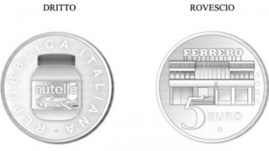 Nutella: moneta d'argento da 5 euro